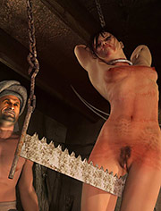Stretching her enough to allow her no movement / Caught Peschmerga / Quoom / CGI BDSM