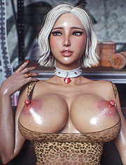 3D blonde with big breasts / Message 2 / Jared999D