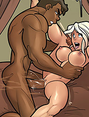 Fucking all this tight amazonian pussy is killing me / Calvin and Diana in What that ass do / Rabies T Lagomorph