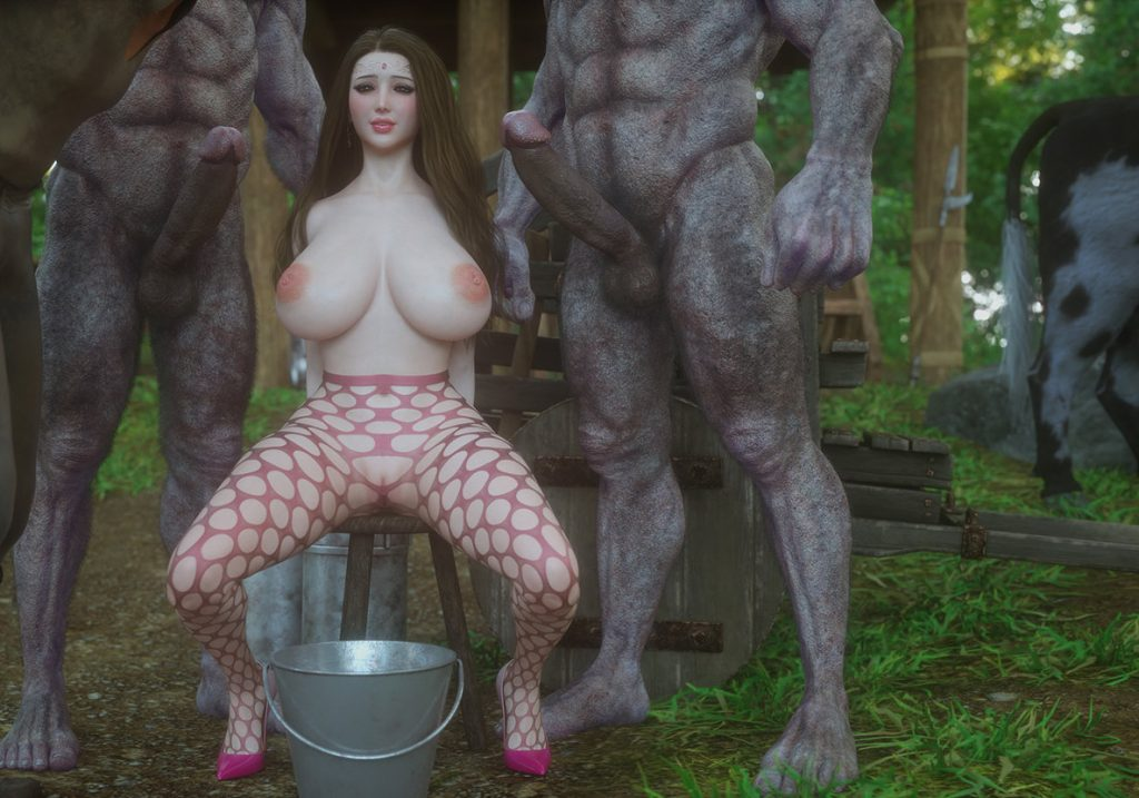 I can't belive you're cumming when you're being milked - Fallen lady 4 by Jared999d