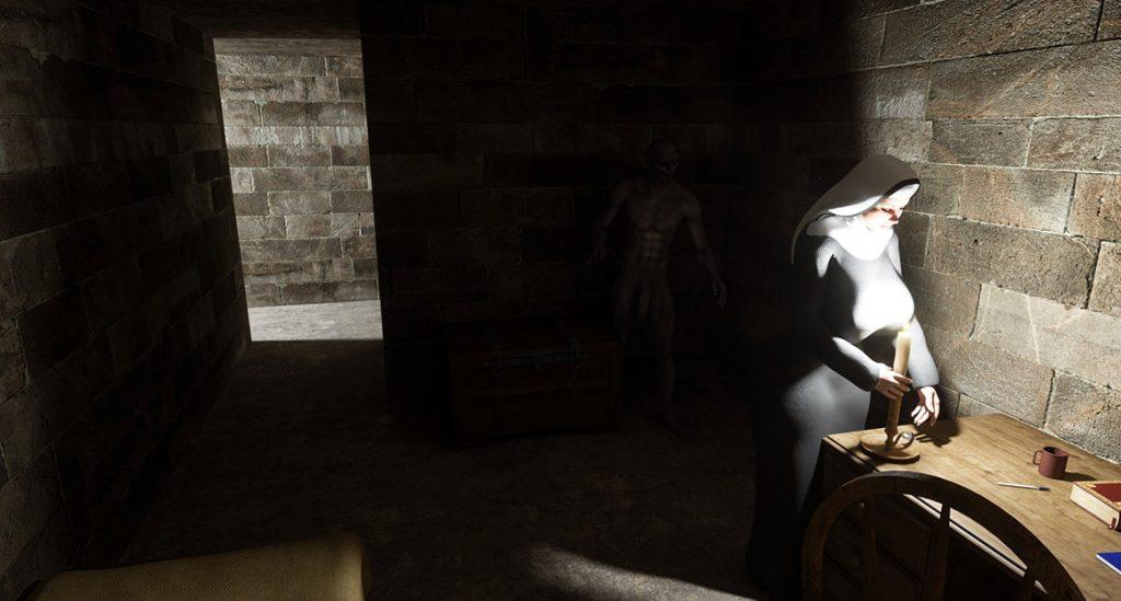 Dirty night guest - The nun by Blackadder