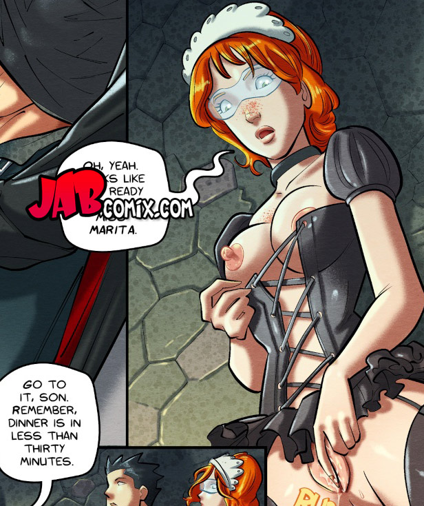 Looks like he's ready to go, miss Marita - The Curse of The Black Mantis by jab comix